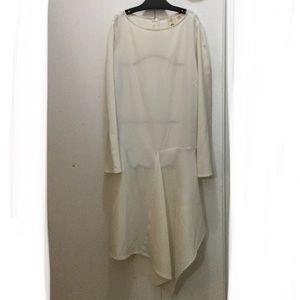 Uniqlo S Ivory asymmetrical tunic, top, dress